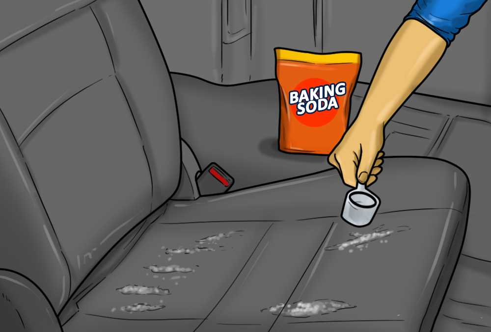 Use-baking-soda-to-remove-stains-on-the-leather-seats